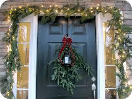 homerestyle red front door christmas