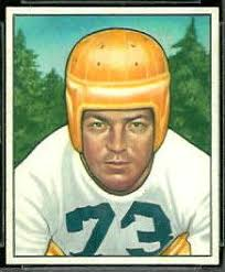 Darrell Hogan 1950 Bowman football card. Want to use this image? - Darrell_Hogan