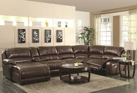 room brown leather couches