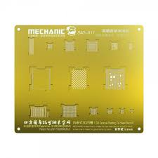 <b>Mechanic 3D BGA Reball</b> Gold Stencil for A11 iPhone X / 8 / 8 Plus