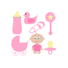 light pink baby clipart 1