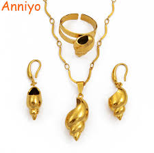 Online Shop Anniyo PNG <b>Conch Pendant Necklaces</b> Earrings Ring ...