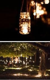 hanging mason jar fairy lights 15 diy outdoor wedding ideas on a budget adore diy hanging mason