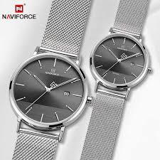 NAVIFORCE Fashion Couple Watches <b>Luxury Lovers Wristwatch</b> ...