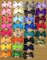 15-<b>100 pcs 3</b> inch hair bows for infant,baby girls hair bows,small hair ...