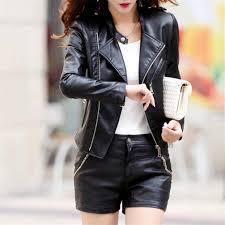 Qixuan <b>Women</b> Casual <b>Long</b> Sleeve <b>Zipper</b> Faux <b>Leather Long</b> ...