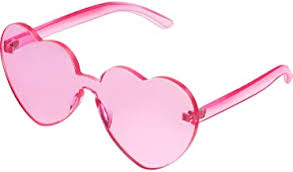 pink heart shaped glasses - Amazon.com