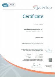 uno soft kft the quality of our work is guaranteed by the msz en iso 9001 2009 iso 9001 2008 standard