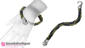 How to Make a Fishtail <b>Bracelet</b> Using Round <b>Leather Cord</b> - YouTube