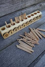 Spindle box, <b>Montessori</b> math, Educational wooden <b>toy</b> | The Best ...