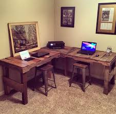 l shaped desk made from reclaimed pallets by whitelumber on etsy you can purchase pallets shaped wood desks home
