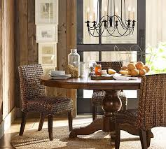 pottery barn style dining table: sumner extending pedestal table amp seagrass chair  piece