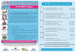 to neet project solihull carers centre t4c neet poster side by side current front page only