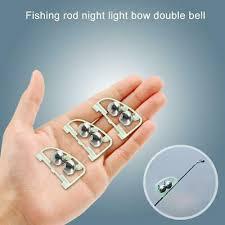 3X Night <b>Fishing</b> Rod Tip <b>fish</b> Bite Alarm Alert <b>Clip Bells</b> Ring Glow ...