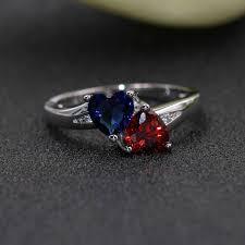 <b>Seanlov</b> Love Silver Color Rings For Women Heart Wedding Rings ...