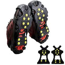 quality m l size crampons 8 teeth outdoor mountaineering hiking antislip ice snow spikes shoe skidproof