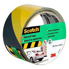 <b>Лента сигнальная 3M</b> Scotch 4705, черно-жёлтая, 50мм x 33м x ...