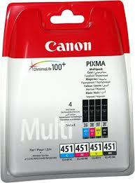 Картридж <b>Canon CLI</b>-<b>451C</b>/M/Y/Bk, разноцветный, для струйного ...