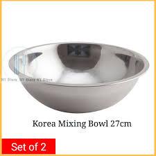 <b>2 pcs</b> Korea <b>Mixing Bowl</b> High Quality Stainless Steel | Shopee ...
