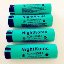 <b>Original High Quality Nightkonic</b> 2 PCS/LOT 14500 Battery 3.7V ...