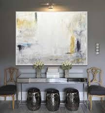 <b>Large</b> Oil Paintings Original <b>Modern Abstract</b> Art White Amber ...