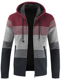 <b>Men</b> Brushed Thickening Thermal Cardigan Coat with Cap Sale ...