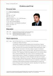 example curriculum vitae what your resume should look example curriculum vitae cv template standard professional format careeroneau cv template english