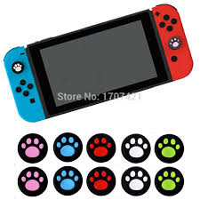 <b>8 pcs</b> Cat Claw <b>Silicone Analog</b> Thumbsticks Grips Cover for ...
