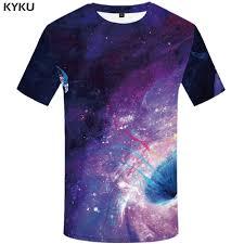 <b>KYKU Brand</b> Galaxy Space <b>T shirt</b> Men Colorful Shirt Print ...