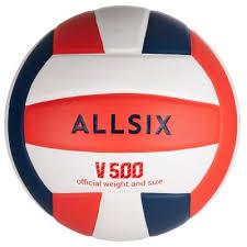 мяч <b>allsix волейбольный v500</b> белый синий и красный | novaya ...