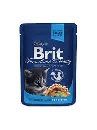 <b>Brit Premium Cat</b> Pouches Chicken Chunks for <b>Kitten</b> – Brit