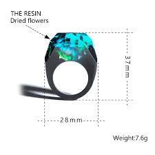 <b>Wooden Resin Ring Soul</b> Of The Forest Eco Epoxy Jewelry The ...