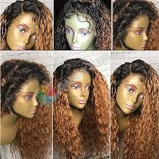 Gamay Hair Glueless Raw Virgin Hair Kinky <b>Curly Ombre</b> #<b>1B</b>/<b>30</b> ...
