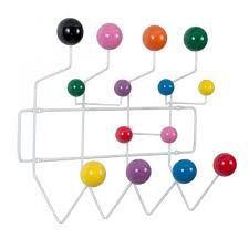 white eames hang it all with multicoloured balls  cult furniture
