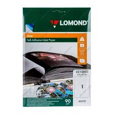 <b>Фотобумага Lomond A4</b>/<b>90г/м2</b>/25л. /матовое самоклей ...