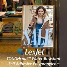 LexJet TOUGHcoat™ Water-Resistant <b>Self Adhesive Polypropylene</b> ...