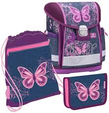 Набор: <b>ранец Belmil</b> Classy Purple Flying <b>Butterfly</b>, мешок для ...