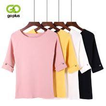 <b>GOPLUS 2019 Spring</b> Thin Knitted Sweater Women Soft O Neck ...
