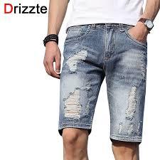 <b>Fashion Mens</b> Denim Shorts Skinny <b>Ripped</b> Brand Summer Casual ...