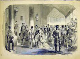 5 print aristocratic english royal party french 1868 12lun1 old print aristocratic english royal party french 1868 12lun1 old original