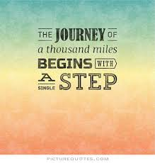 Image result for journey begins with a single step