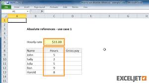 excel tutorial how to use absolute references example 1 from the video how to use absolute references example 1