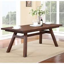 wood extendable dining table walnut modern tables: modus portland solid wood rectangular extension table medium walnut dining tables at hayneedle