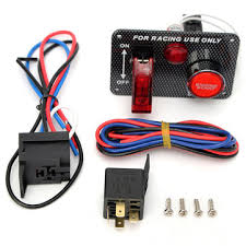 <b>12v</b> racing car engine start push button toggle <b>ignition switch panel</b> ...