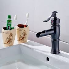 China <b>Flg Basin Faucet</b> Oil Rubbed Bronze Sink <b>Bathroom</b> Waterfall ...