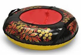 Санки надувные <b>Тюбинг</b> – <b>Хохлома</b>, автокамера, диаметр <b>100 см</b> ...
