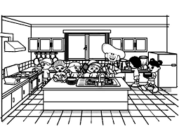 Small Picture Cooking Show Kitchen Coloring Pages Cooking Show Kitchen Coloring