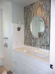 bathroom lighting sconces enchanting contemporary enchanting mirrored tile backsplash for modern home design idea excell