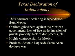「a declaration of independence from Mexico」の画像検索結果