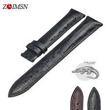 <b>ZLIMSN</b> Double <b>Crocodile Skin Strap</b> Quick Installation Brown Black ...